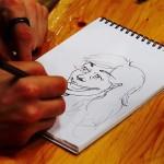 絵を描くことの要である下書き