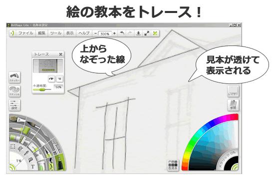 お絵描きソフトのレイヤーまたはトレース機能を活用の記事画像